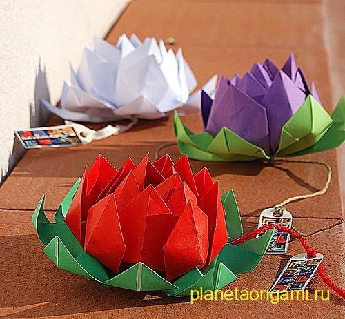 Origami Lotus Instructions.