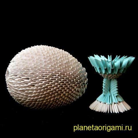 Схема модульное оригами яйцо - Оригами из бумаги схемы.