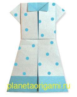 Летнее оригами платье