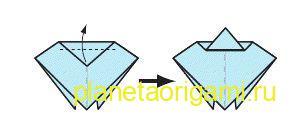 Оригами божья коровка схема