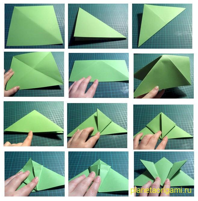 Лягушка оригами пошаговая инструкция