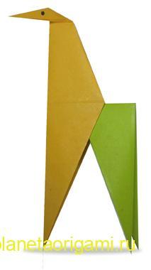 жираф оригами