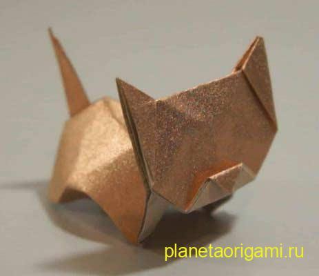 Оригами кошка от Jo Nakashima (видео схема) .