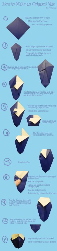 Ваза для цветка из бумаги