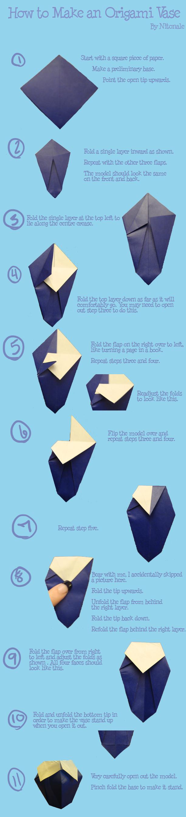 Ваза из бумаги  схема видео