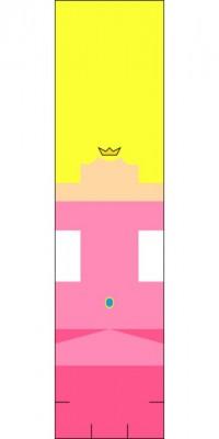 Принцесса оригами шаблон