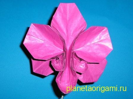 Оригами орхидея