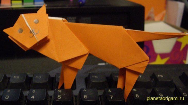 Тигр из бумаги (схема +