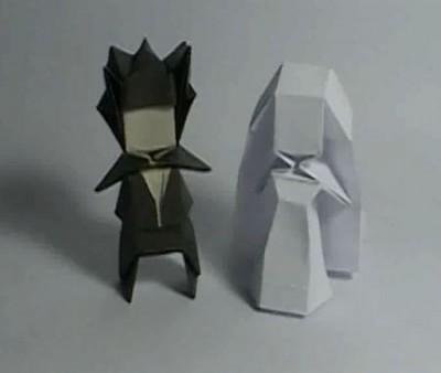 Человечки оригами из бумаги