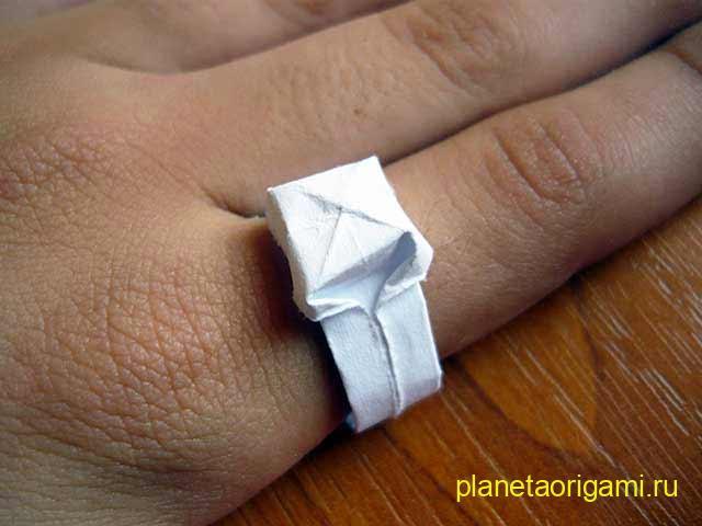 Простое кольцо оригами. Схема