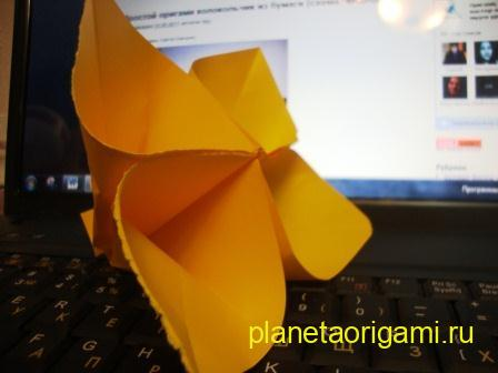 How to make an origami sakura flowers (цветок сакуры оригами.