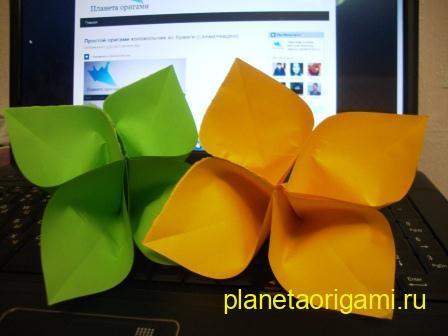оригами сакура своими руками