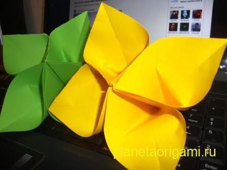 Как сделать цветок сакуры из бумаги.  Рукоделие и хобби.