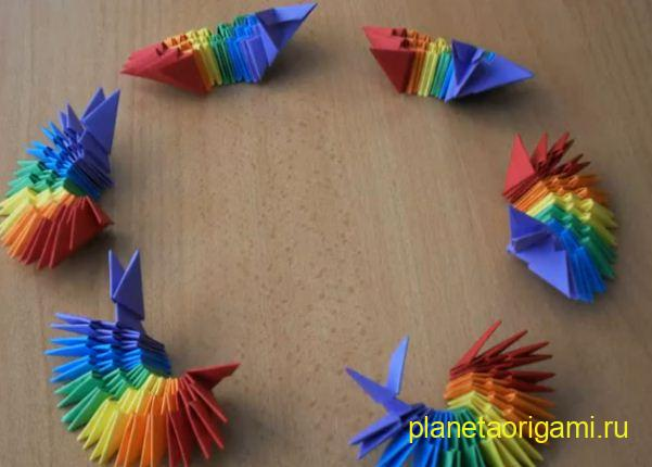 Модульное оригами ваза схема