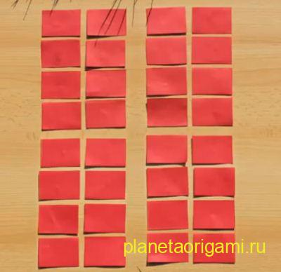 Модульное оригами ваза схема сборки