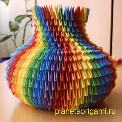 Модульное оригами: ваза схема сборки Планета Оригами. http.