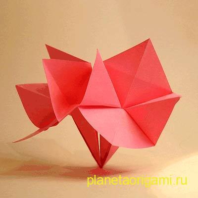 цветок для начинающих из бумаги