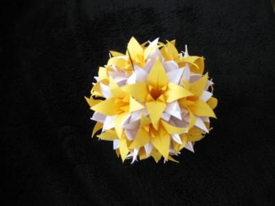 схема сборки кусудамы лилии