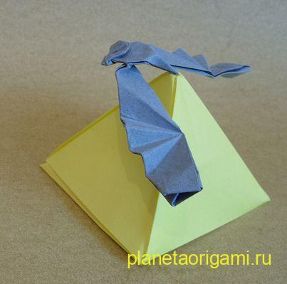 оригами орел схема.