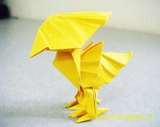Красивые птички из бумаги.