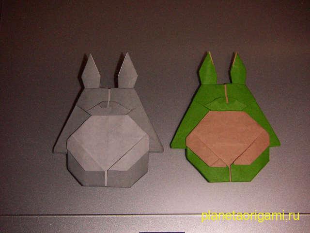 Схема сборки Тоторо оригами