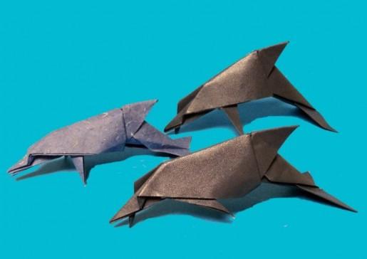 Дельфины оригами
