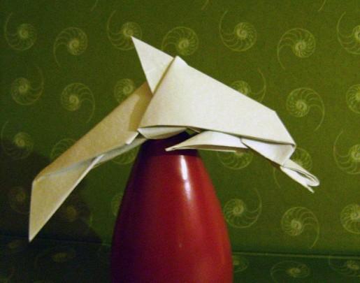 дельфин оригами