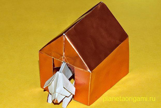 самолет оригами из модулей схема, схема лягушки оригами д.