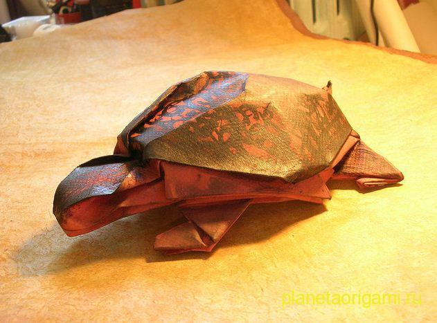 оригами черепаха.