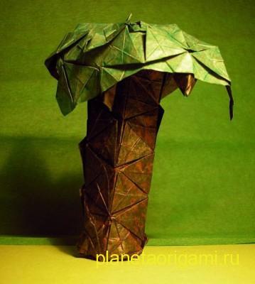 Пальма из бумаги по схеме