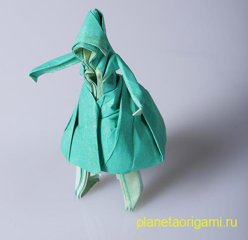 девочка в платье оригами