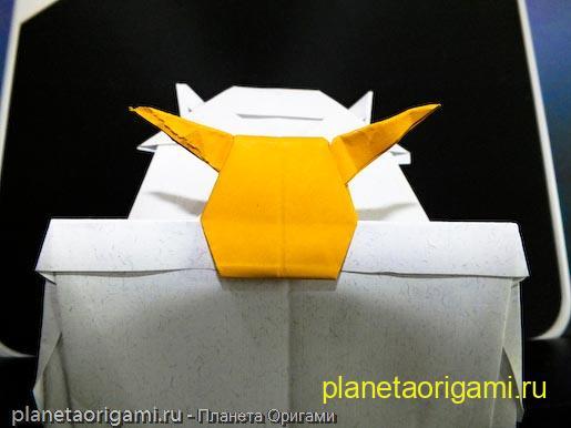 Японская крепость из бумаги