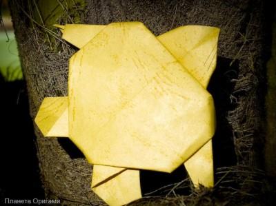 оригами черепашка