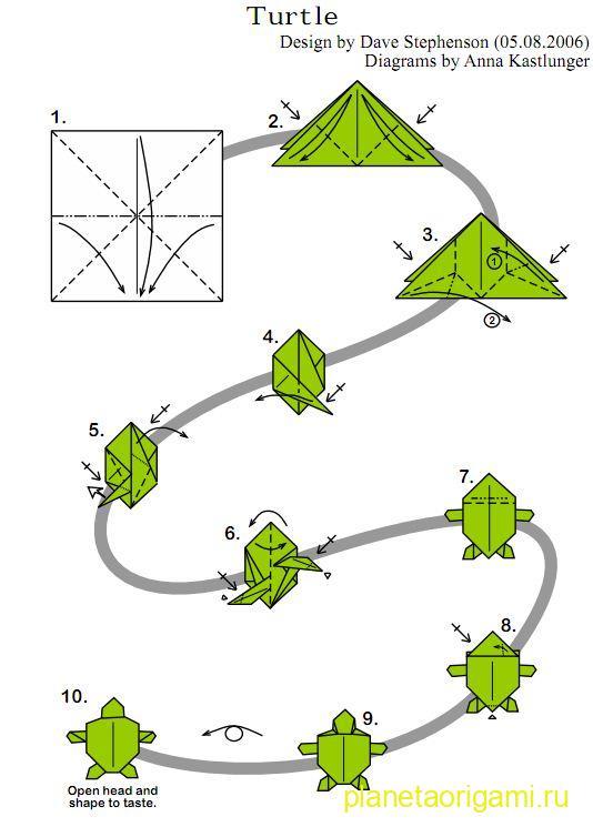 Оригами из бумаги схемы