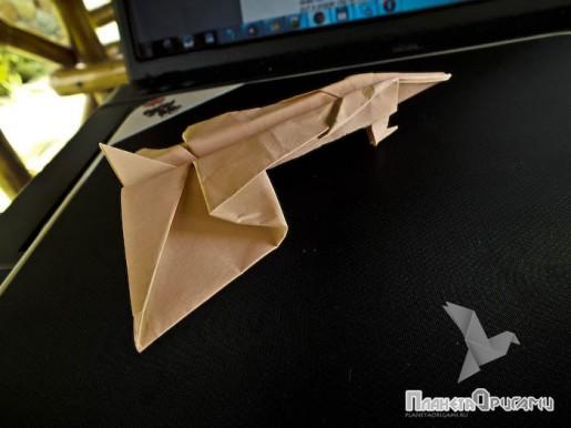 "оригами самолет ""конкорд"""