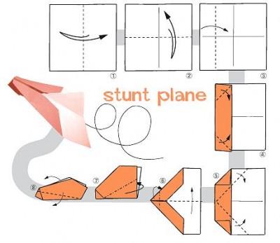 Схема самолета бумажного