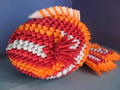 модульное оригами рыбка