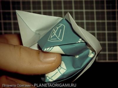 Бумажная игрушка лиса