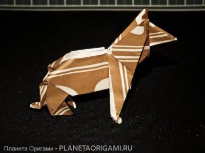 Немецкая овчарка оригами