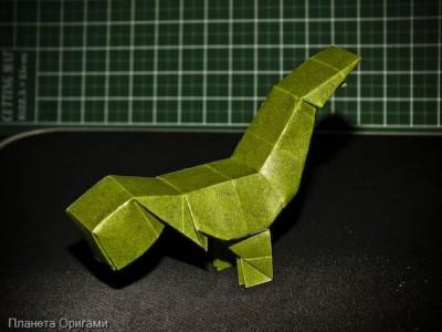 Бумажный динозавр T-Rex