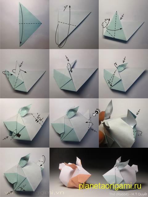 бумажный кролик своими руками