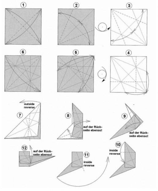 Схема сборки бумажного скотч-терьера.