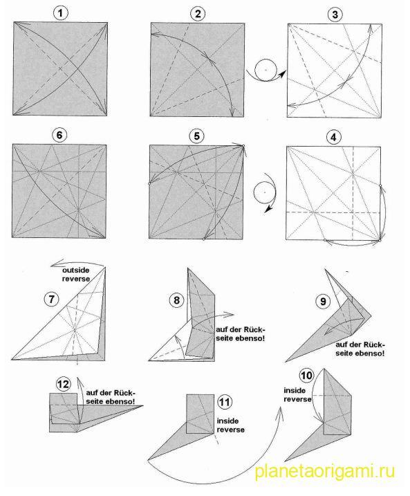 Схема сборки бумажного скотч-