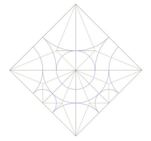 Оригами кленовый лист схема.