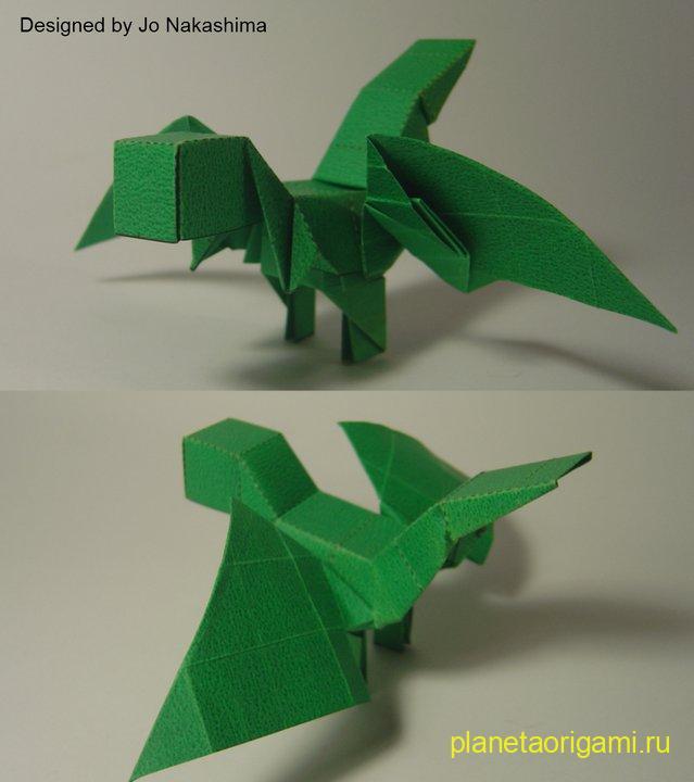 Объемный дракончик из бумаги