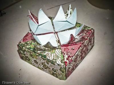 праздничная коробочка оригами