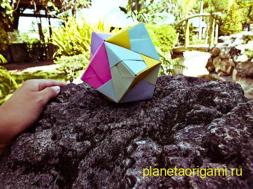 Схема сборки объемного оригами фото 947