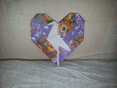 Оригами - птица в сердце