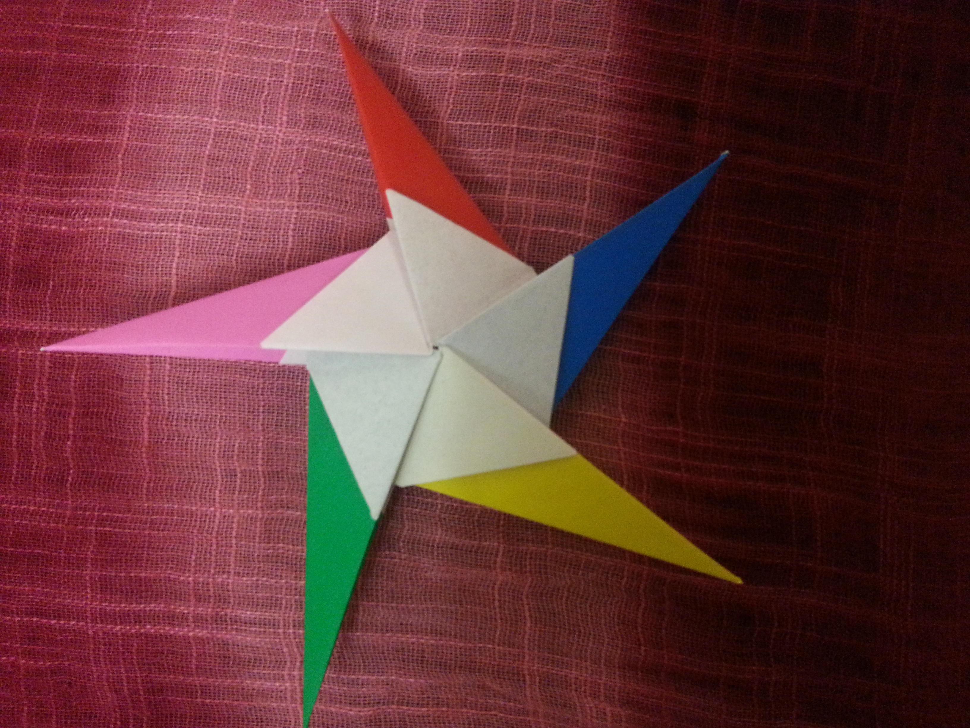 Как сделать объемную звезду из бумаги в технике 29