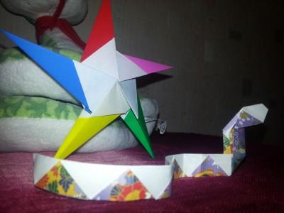 звезда на елку оригами